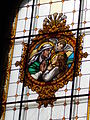 Capuchin church. Listed ID 7063. Stained glass window, detail. - Máriabesnyő-Gödöllő, Hungary.JPG