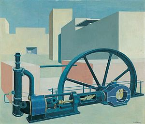 Carl Grossberg - Image: Carl Grossberg Komposition mit Turbine 1929