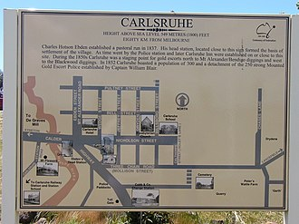 Carlsruhe, Victoria - Image: Carlsruhe VIC general information