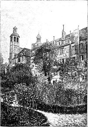 Carmes Prison - The garden of the couvent des Carmes.