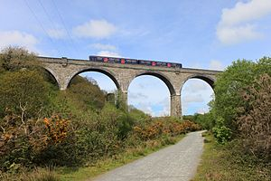 Cornwall Railway - Carnon Viaduct near Perranwell on the Falmouth line, over the route of the Redruth and Chaswewater Railway