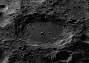 Carnot (crater) - Oblique Lunar Orbiter 5 image