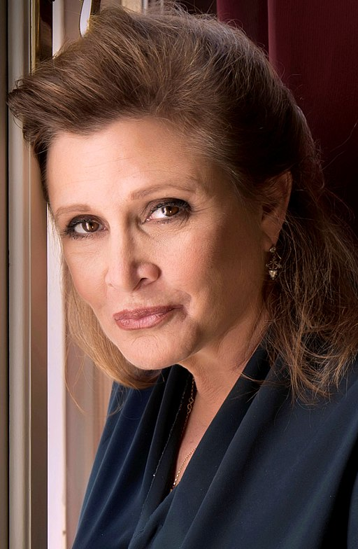 Carrie Fisher 2013-a straightened