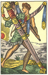 Ace of Swords playing card