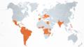 Carte des pays déclarés en deuil national à la mort de Jean-Paul II.png