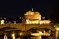 Castel Sant'Angelo,tiber and Ponte Vittorio at night.jpg