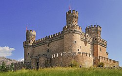 Castle of the Mendoza in Manzanares el Real