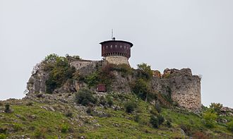Tirana - Castle of Petrelë, built in the 6th century by Justinian I.