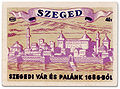 Castle Szeged in 1686, Hungary - match label 1950's years.jpg