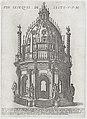 Catafalque for Pope Sixtus V; from 'Libro De Catafalchi, Tabernacoli, con varij designi di Porte fenestre et altri ornamenti di Architettura' MET DP874851.jpg