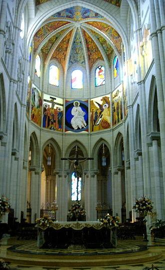 Kiko Argüello - Interior of the Cathedral of Saint Mary the Royal of La Almudena, Madrid