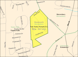 Census Bureau map of Shrewsbury Township, New Jersey