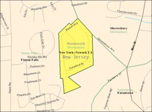 Shrewsbury Township, New Jersey - Image: Census Bureau map of Shrewsbury Township, New Jersey