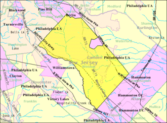 Winslow Township, New Jersey - Image: Census Bureau map of Winslow Township, New Jersey