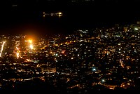 Central Freetown at night, Sierra Leone. January1 2014.jpg