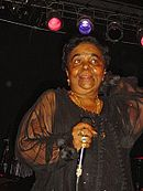 Cesária Évora singing in San Diego, California