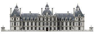 Château de Richelieu - Reconstruction of the garden façade