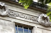 Chadwick's name as it appears on the frieze of the London School of Hygiene & Tropical Medicine