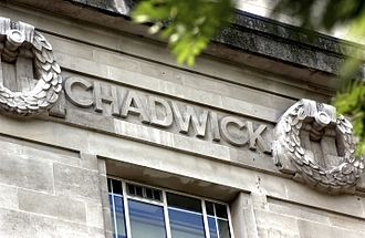 Edwin Chadwick - Chadwick's name as it appears on the frieze of the London School of Hygiene & Tropical Medicine