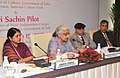 Chandresh Kumari Katoch addressing the Corporate Heads on Corporate Social Responsibility (CSR) for Indian Culture, organized by the National Culture Fund of Ministry of Culture, in New Delhi. The Secretary, Culture.jpg