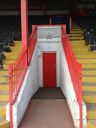 St James Park (Exeter) - Image: Changing Room Entrance