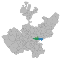 Municipality location in Jalisco