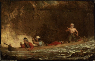 Charles Deas - The Voyageurs (1846) by Charles Deas