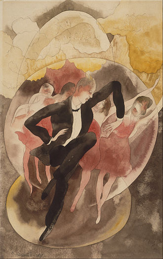 Charles Demuth - In Vaudeville (Dancer with Chorus), 1918, in the Philadelphia Museum of Art