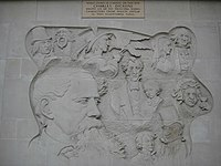 Charles Dickens sculptured panel - geograph.org.uk - 1298752.jpg