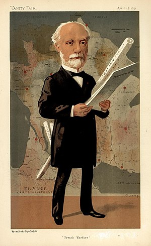 Charles de Freycinet - Caricature of Freycinet on Vanity Fair (1891)