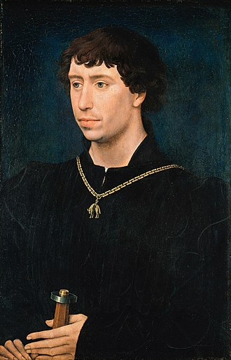 Charles the Bold - Rogier van der Weyden painted Charles the Bold as a young man in about 1460, wearing the collar of the Order of the Golden Fleece