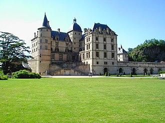 Château de Vizille - The castle seen from its park.