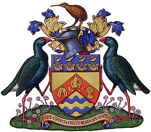 Christchurch City Council - The coat of arms of the City of Christchurch, New Zealand.