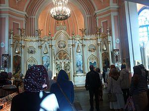 Chesme Church - Chesme Church in Saint Petersburg, interior nowadays (2014)