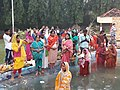 Chhat Puja celebrated on fourth day of Chhat in Hyderabad.jpg