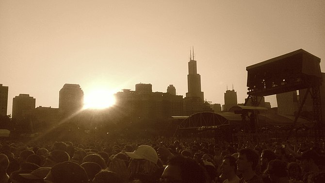 English: Lollapalooza 2011 in Grant Park - Chi...