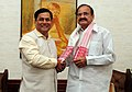 Chief Minister of Assam Sarbananda Sonowal meeting Vice President M. Venkaiah Naidu in October 2017.jpg