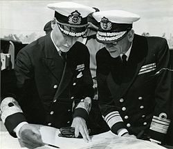 Chiefs of Swedish and Danish navies in 1955.jpg