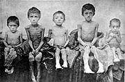 Children affected by famine in Berdyansk, Ukraine - 1922