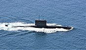 Chilean submarine Simpson (SS-21) underway in the Pacific Ocean on 3 August 2018 (180803-N-KX129-002).JPG