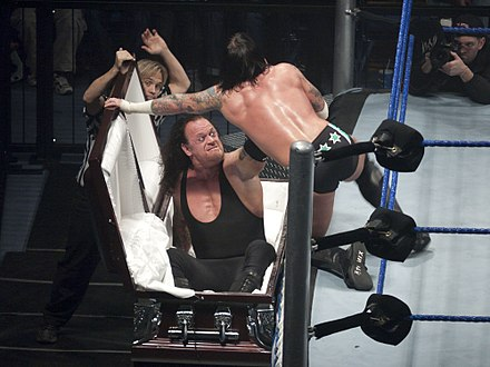 The Undertaker in a casket match against CM Punk Chokeslam on....jpg
