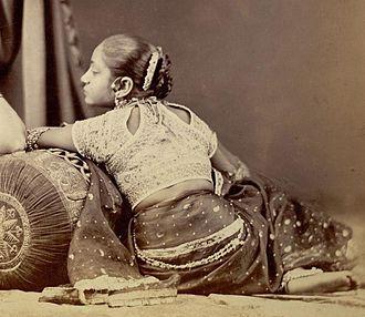 Choli - Woman in choli ca. 1872.