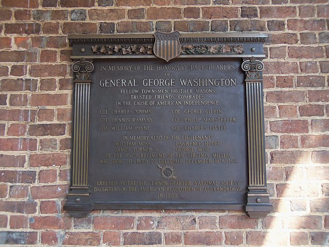 Image result for George Washington's Plaque at Christ Church in Alexandria, Virginia