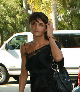 Helena Christensen au Ford and project7ten Sustainable/Green Home opening party, le 16 octobre 2007.