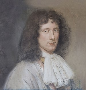Bernard Vaillant - Pastel portrait of Christiaan Huygens, located in Hofwijck museum.