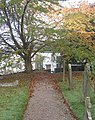 Churchyard path on a misty morning - geograph.org.uk - 1541589.jpg