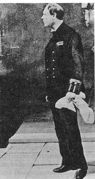 Winston Churchill in politics, 1900–1939 - Churchill directing the defence of Antwerp wearing the uniform of an Elder Brother of Trinity House.