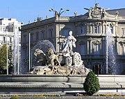 Cibeles con Palacio de Linares al fondo