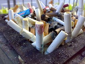 A cigarette disposal tray in Ayala, Makati City