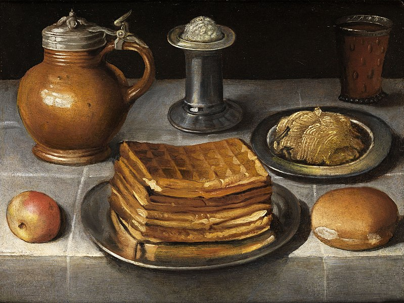 File:Circle of Georg Flegel Still life with waffles.jpg